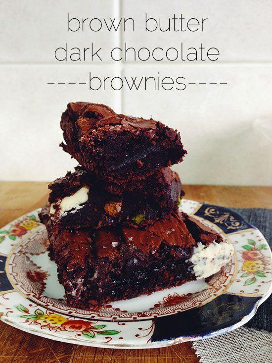 The Cake Hunter: Brown Butter Dark Chocolate Brownies