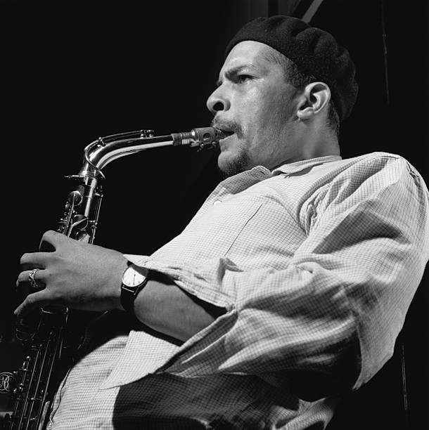 Alto saxophonist Jackie McLean during the recording session for his Let Freedom Ring album.