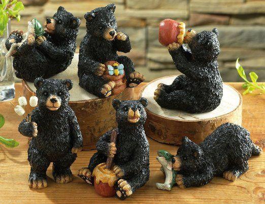 Amazon Com Collections Etc Woodland Black Bear