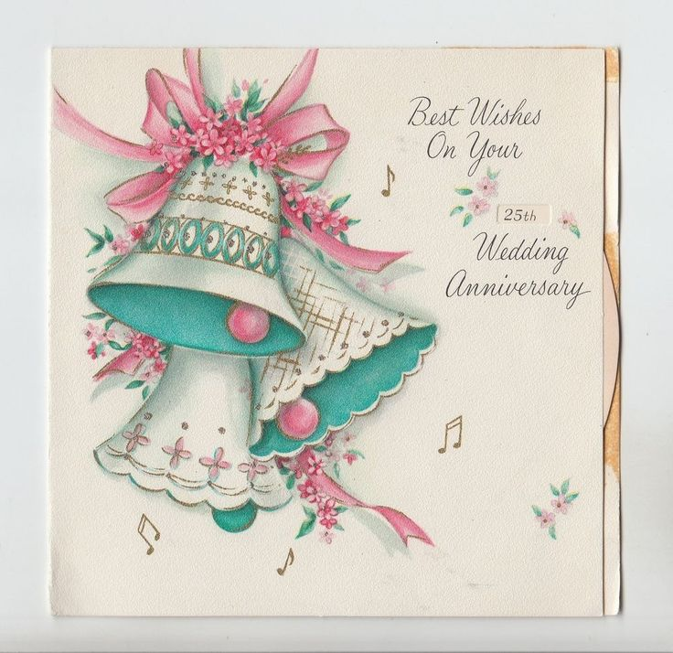 135 best vintage cards wedding anniversary images on pinterest vintage date wheel bells bow flowers music notes anniversary greeting card m4hsunfo