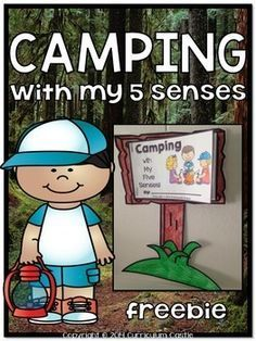 FREE! Have students experience the world of camping using all of their five senses! This camp theme freebie includes:  1. Camp sign template 2. 5 senses mini book pages 3. Creative writing sheets {camp theme printable paper}