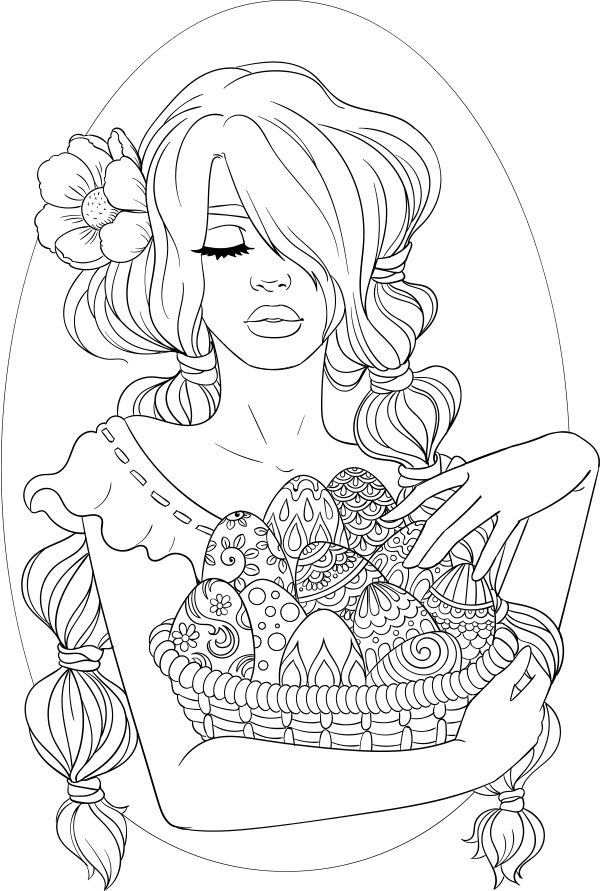 lineartsy free adult coloring page easter