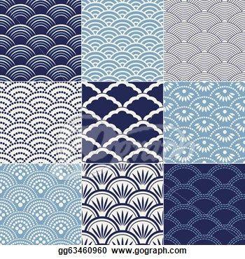 japanese seamless wave pattern