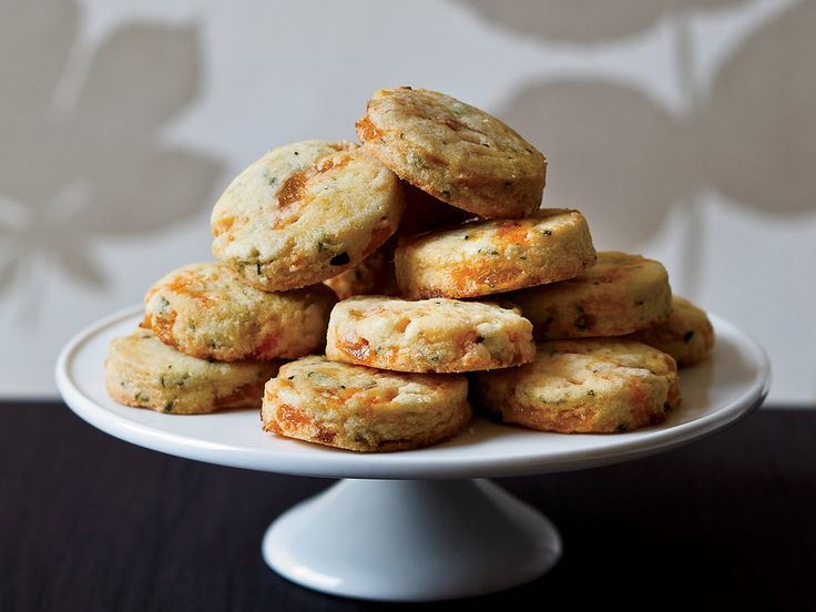Apricot-Tarragon Cocktail Cookies | Chunks of dried apricots are nicely chewy in these sweet-and-savory cookies, which would be delicious with cheese.