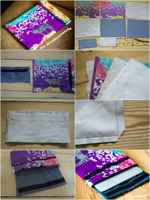 Schritt für Schritt Anleitung Notebooktasche Nähen