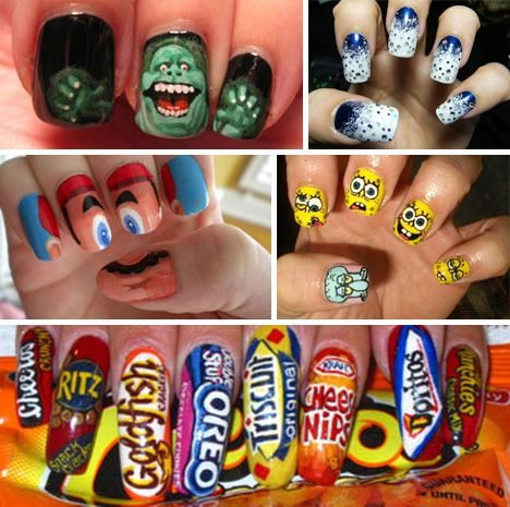 57 best nail designs images on pinterest crazy nail art crazy do the nails on the bottom belong to mrs butterworth or aunt jemima nail polish designscrazy prinsesfo Choice Image
