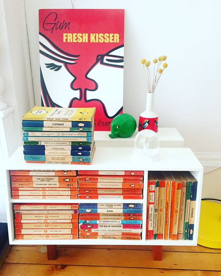 Some of my vintage Penguin books collection. #vintage #penguin #books #penguindonkey #colour #mystyle #myhome