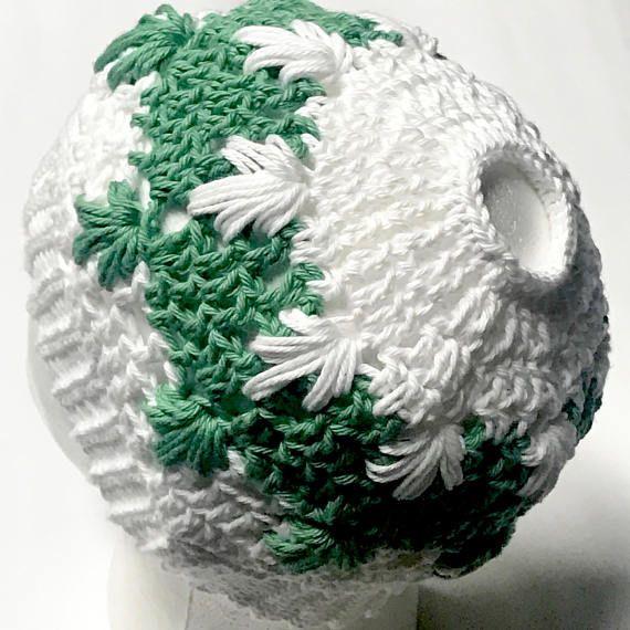 Womens Crochet Hats Beanie Hat Cotton Messy Bun Beanie Hat