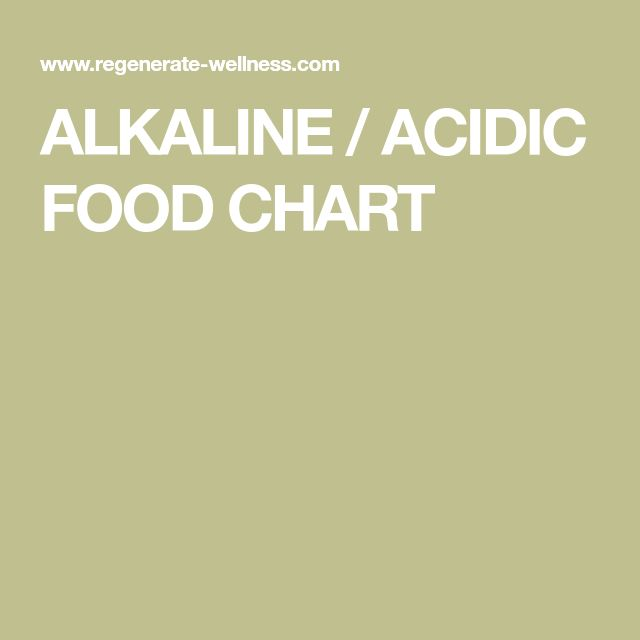 The  Best Acidic Food Chart Ideas On   Ph Food Chart