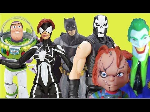 Buzz Lightyear Toy Story Spider-Girl Marvel Batman Ossos Cruzados Coring...