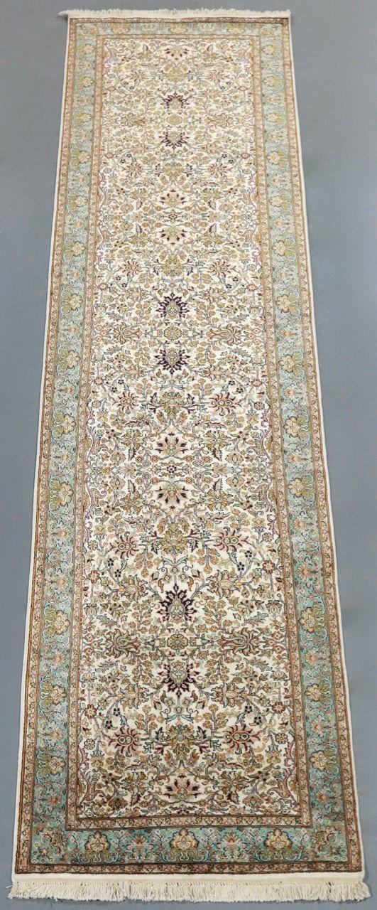 Kashmir Pure Silk Rug (Ref 8408) 310x76cm - PersianRugs.com.au