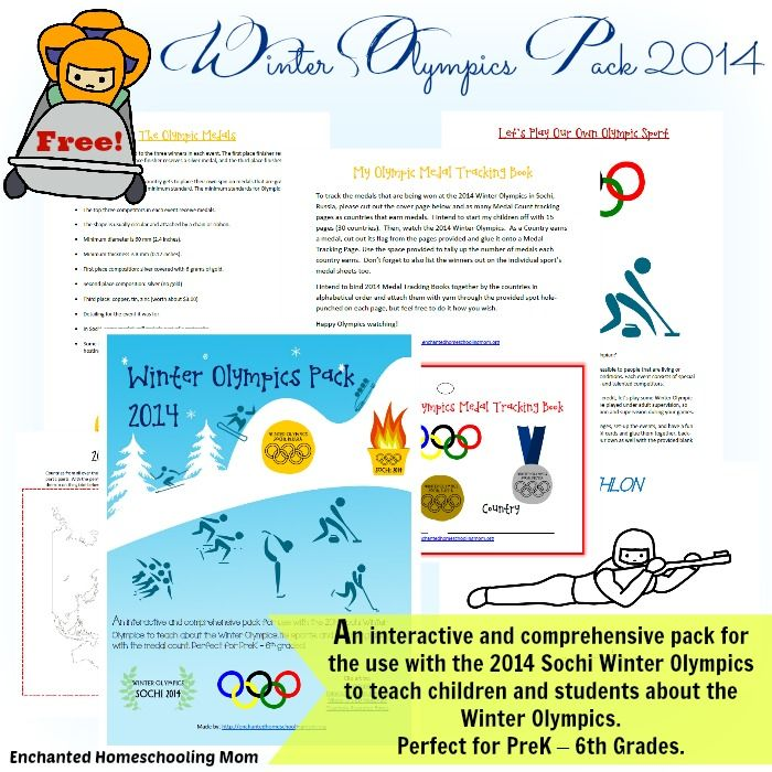 Winter Olympics Pack 2014 {Free} - Enchanted Homeschooling Mom