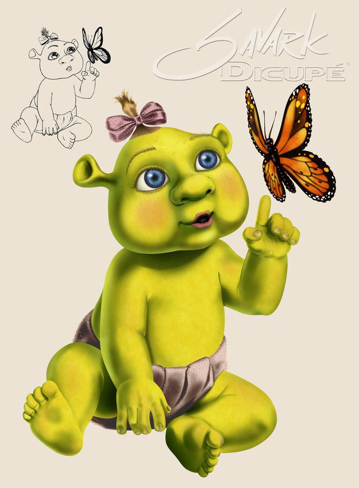 ogre baby shrek coloring pages - photo #34