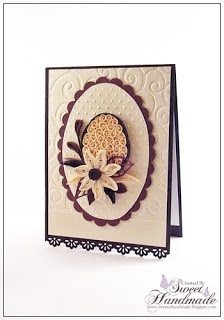 Easter Quilling Card - beige