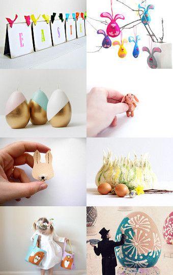 Happy Easter! by Francesca Vicario on Etsy--Pinned with TreasuryPin.com