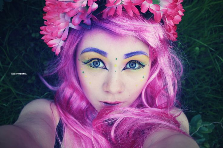 My pinkyFairy makeup  https://www.youtube.com/user/EmmyyEv http://www.facebook.com/novaev  #makeup #mua #manga #elven #lens #extreme #wigs #blue #makeupartist #mask #blogger #youtuber #evzuu