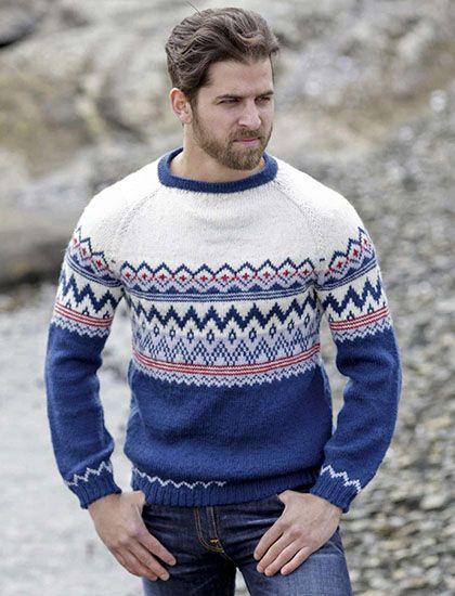 Men's sweater knitting pattern