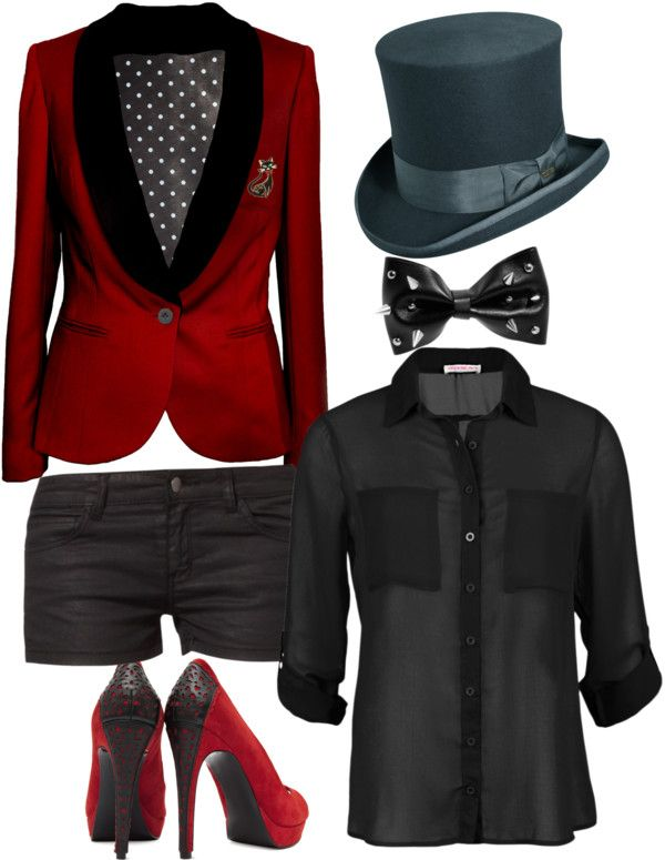 """Panic! At the disco inspired"" by dede999 ❤ liked on Polyvore like the top, bow tie, shorts and shoes"