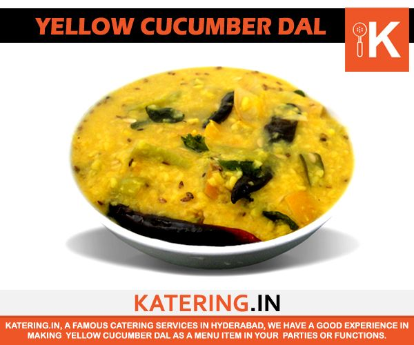 Our chefs dish out some of the #bestdishes that are eternal in taste. One such dish is Katering's #YellowCucumberDal