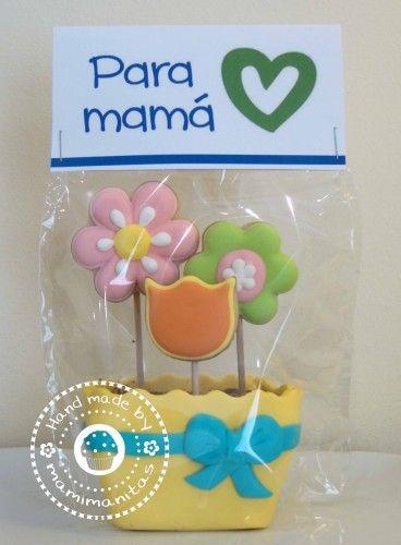 Galletas decoradas para el día de la Madre, un buen regalo para mamá: idea de mamimanitas #Mama #Galletas #DiaDeLaMadre