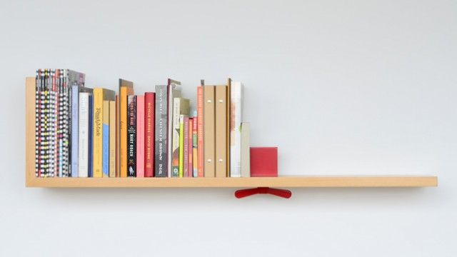 Hold on Tight bookshelf | Colleen & EricTights Bookshelf, Holding On, Ideas, Tights Shelf, Dreams Bookshelves, Bycolleen Whiteley, Interiors Design, Shelf Bycolleen, Book Stoppers