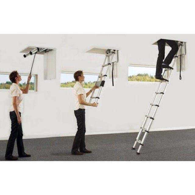 telesteps telescopic loft ladder for small hatch sizes
