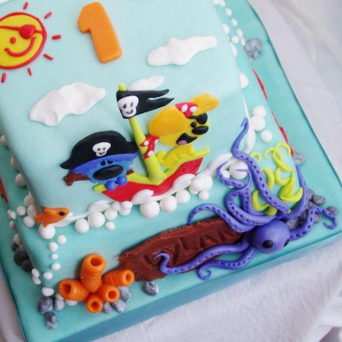Woezel En Pip Piraten Taart  TAART &amp KUNST cakepins.com