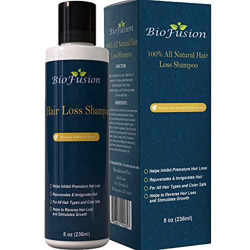 cool Hair Loss Shampoo for Men & Women - Best Topical Hair Regrowth & Prevention Treatment - Use to Improve Thinning Hair & Anti Hair Loss - Dry, Oily and Damaged Hair - Safe - USA Made By Biofusion 8 oz