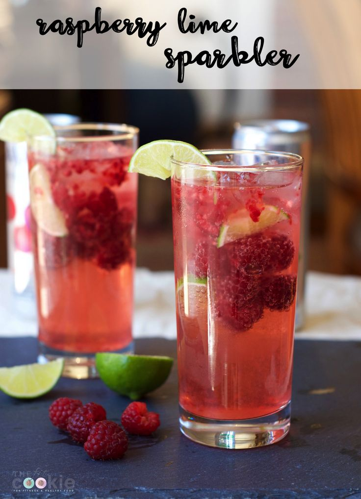 Take a break from the heat with this Cool Raspberry Lime Sparkler made with spar…