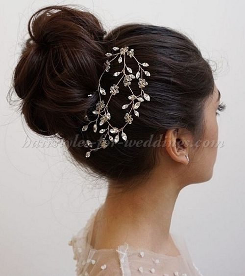 35 Wedding Hairstyles Discover Next Year S Top Trends For: Best 25+ High Bun Wedding Ideas On Pinterest