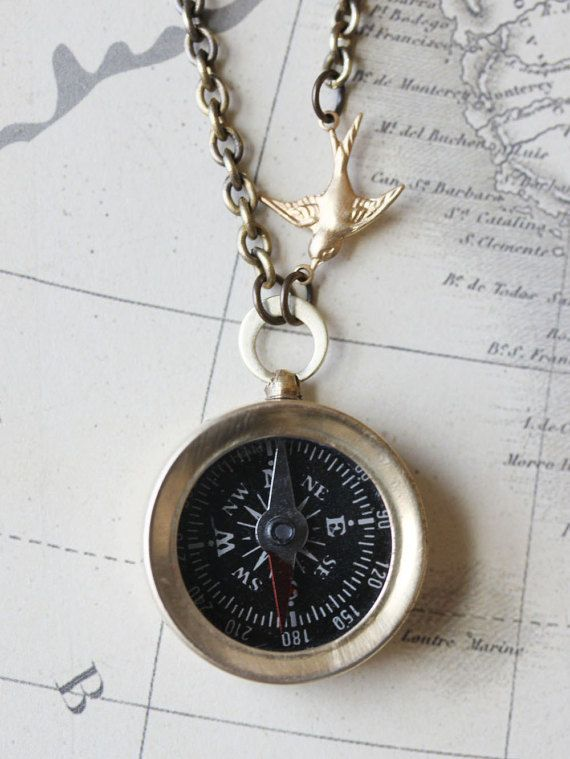 Compass Necklace  Never Lost Compass Necklace Working by madebymoe