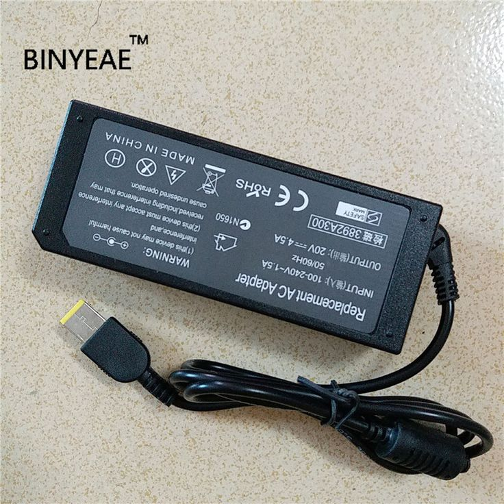 20V 4.5A 90W Universal AC Adapter Battery Charger for Lenovo Yoga 2 Pro M490sA-ITH/ITW G405 Ultrabook Free Shipping