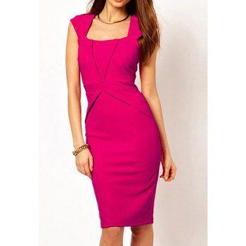 Splicing PacketBeam Waist Slimming Professional Dress