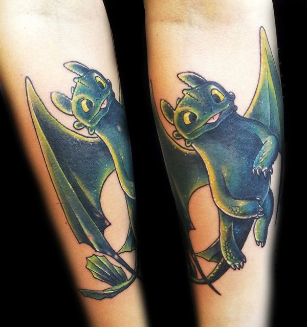 Toothless tattoo