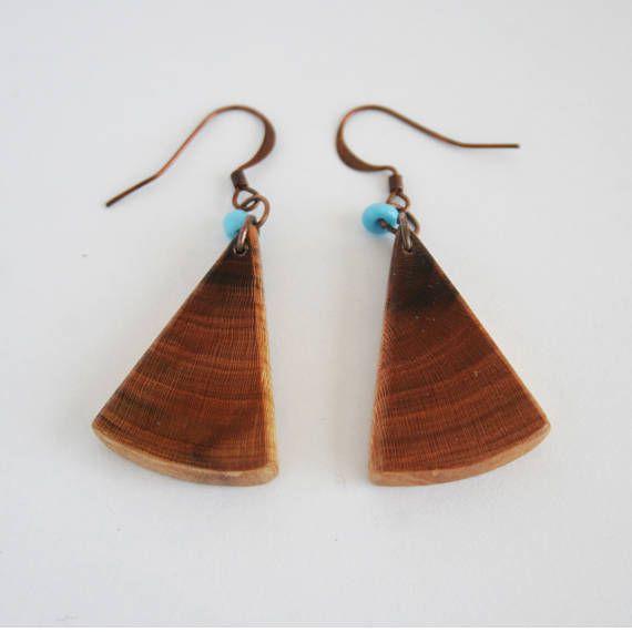 Handmade Hand Shaped Boho Natural Plum Tree Wood Wooden Copper