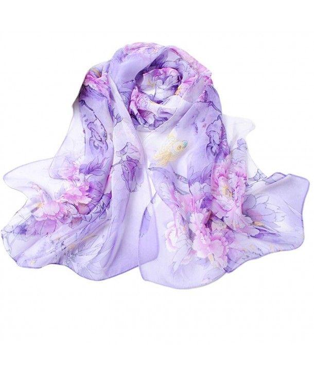 Lavender Chiffon Shawl. Long Scarf Lavender Scarf Chiffon Scarf Wrap Scarf