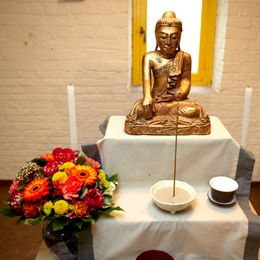 Meditatievoormiddag in de dojo van Halle op 29/09.