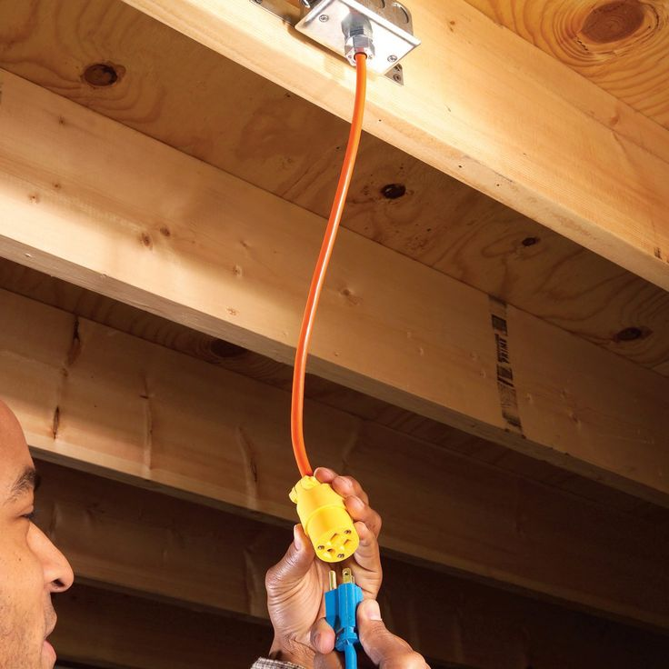 Overhead electrical outlets | Family Handyman