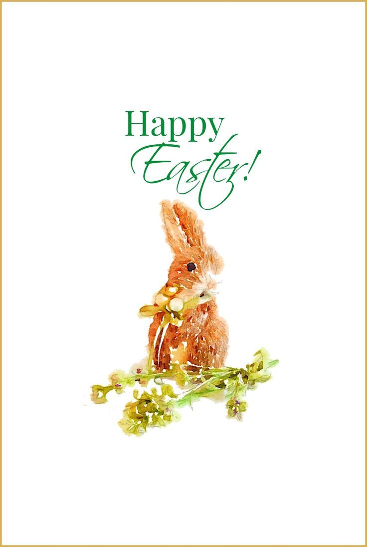 Happy Easter with Bunny Free Printable from onsuttonplace.com | Use for crafts, cards or wall decor!