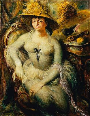 Margaret Olley painted by Sir William Dobell in 1948 - he won his 2nd Archibald prize with this painting.