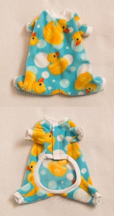 L Ducky Cozy Fleece Dog Pajamas clothes PJS pet... - Exclusively on #priceabate #priceabateAnimalsDog! BUY IT NOW ONLY $15.99