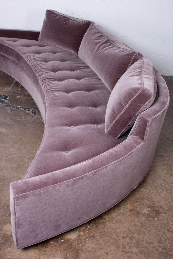 Curved Sofa by Harvey Probber in Mohair (Pair Available) image 7