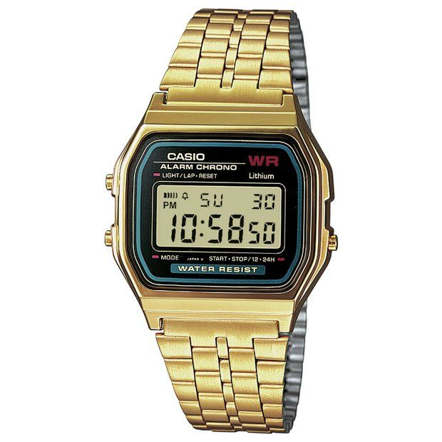 Buy Casio Unisex Gold LCD Bracelet Watch at Argos.co.uk - Your Online Shop for Unisex watches, Watches, Jewellery and watches.
