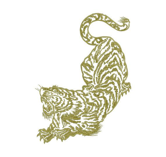 Tiger Machine Embroidery Design Instant Download Three