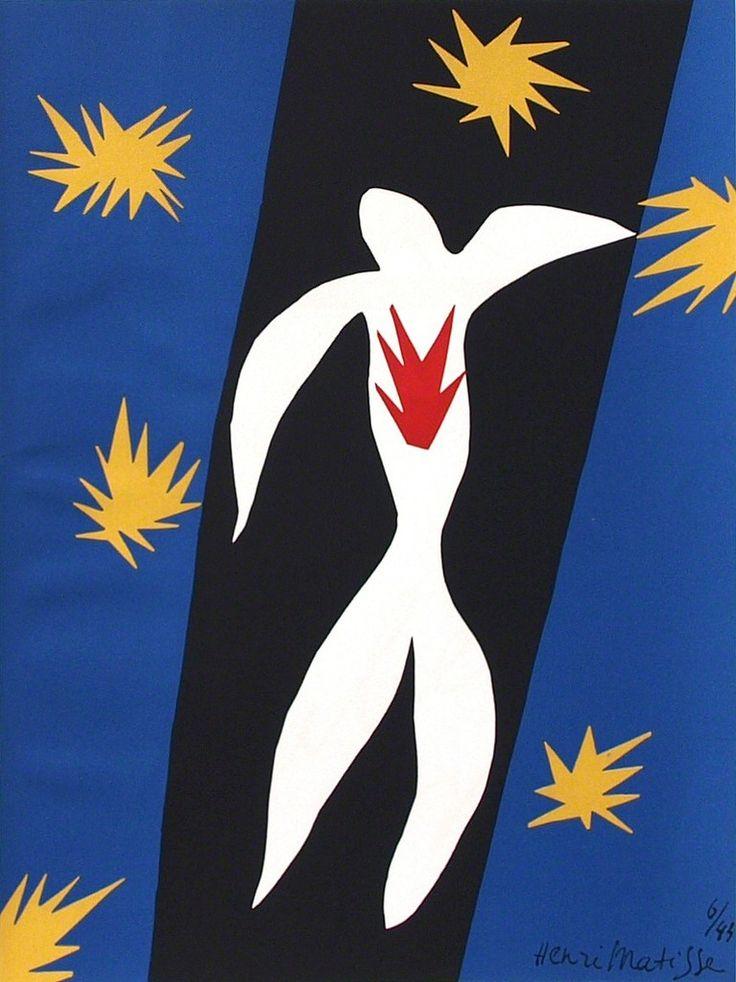Henri Matisse, La Chute d'Icare, 1945, lithograph after the paper cut-out, 27 x 36 cm, Edition of 6500