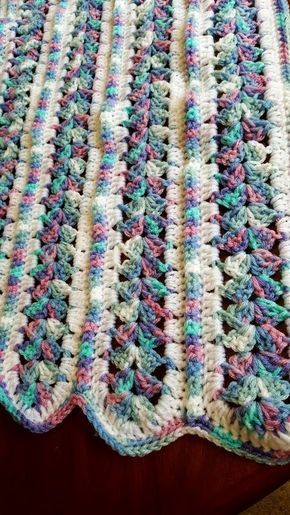 Crochet, baby blanket, mile a minute blanket, mile a minute afghan ...