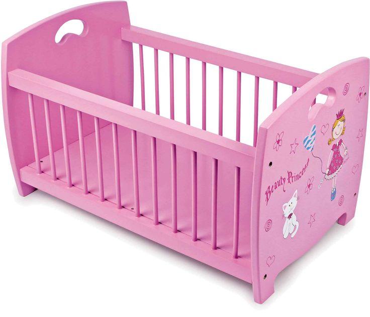 """Prachtige slaapplaats voor de poppenkinderen van """"koninklijken"""" huize! De kleine traliestaven en het leuke design geven het bed een bijzonder tintje!"""
