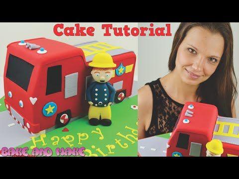 Fireman Sam Fire Truck Cake Tutorial. How to. Bake and Make with Angela Capeski - YouTube
