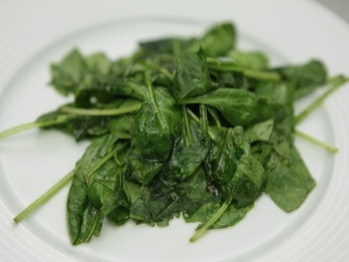 Baby Spinach with Toasted Garlic and Lemon Juice
