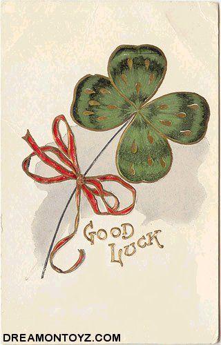 vintage St. Patrick's Day Good Luck postcard